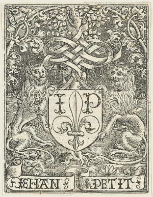Druckermarke des Jean Petit, um 1515