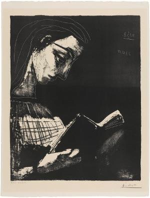 Jacqueline lisant (Jacqueline beim Lesen), 11.1.1958 und 27.12.1958