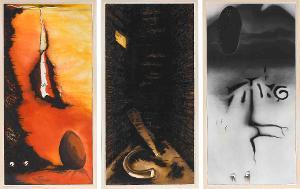 La Lupa di Roma (Die Römische Wölfin) (Triptychon), 1984/85