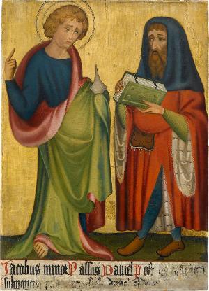 Sogenannter Ulmer Hochaltar: Jacobus minor und Daniel, um 1400