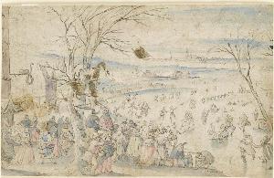 Winterliches Treiben, 1. Hälfte 17. Jahrhundert