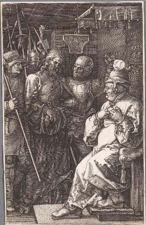 Christus vor Kaiphas (Die Kupferstichpassion), 1512