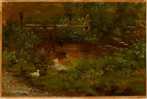 Landschaftsstudie, Um 1880