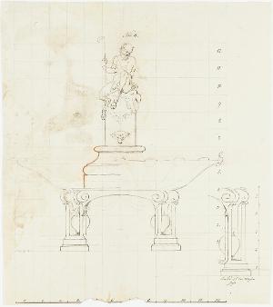 Tafelaufsatz mit Pan, 1770