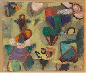 Fantasie auf Gelb, 1938/40