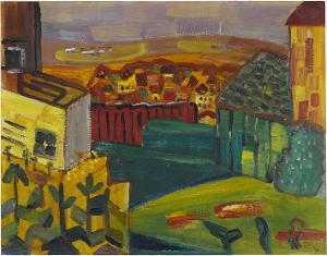 Landschaft mit Garten, 1949