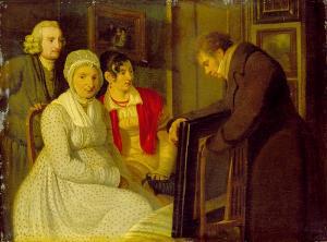 Familienbildnis, Um 1830