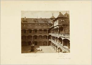 Innenhof des Alten Schlosses in Stuttgart, um 1876