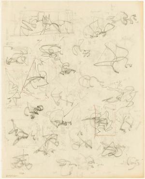 Architekturentwürfe (Schiff); Verso: Architekturentwürfe (Die Auskunft der Hexe), nicht datiert