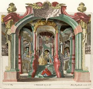Papiertheater, um 1750