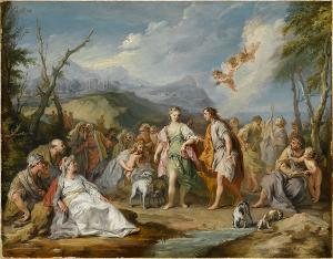 The Encounter of Antheia and Habrokomes at the Feast of Diana, 1744