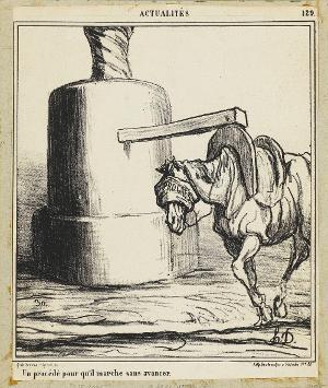 Ein System, damit es läuft, ohne voran zu kommen (Le Charivari, 19.06.1868), 1868
