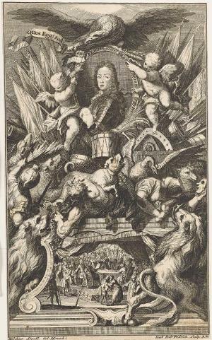 Ferdinand Maria, Kurfürst von Bayern. Der Friede von Passarowitz 1718 (aus: Höchste Welt und Kriegs-Häupter, 1718), 1718