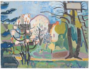 Gartenbild Hofheim, 1935