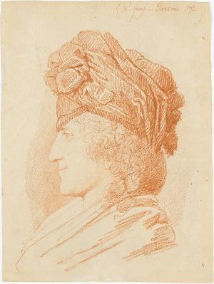 Mann mit Turban, im Profil nach links, 1793