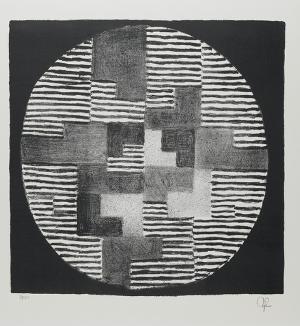 Abstrakte Komposition in Schwarz und Weiß, 1966