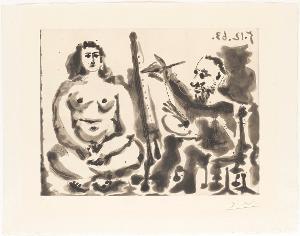 Peintre et modèle IV (Maler und Modell IV), 1963
