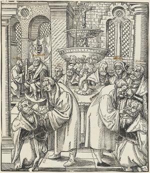 Austeilung des Abendmahls in beiderlei Gestalt, um 1551/1554