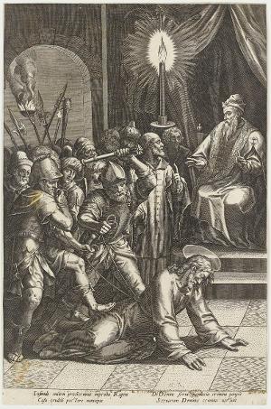 Christus vor Kaiphas (Die Passion Christi), um 1600