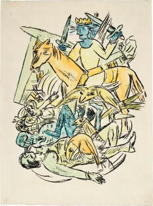 Apokalypse: Christus besiegt das Tier und sein Heer (Offenbarung IXX, 21), 1941/42