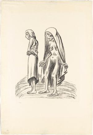 Elend (Blatt 7 aus: Die Ausgestoßenen), 1922