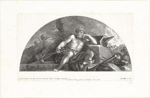 Vulkan hört auf, Waffen zu schmieden (Die Fresken in Florenz), 1691