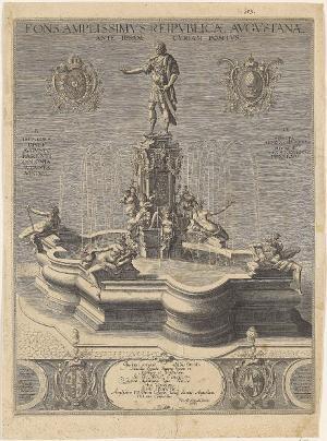 Der Augustusbrunnen von Hubert Gerhard in Augsburg , 1598