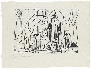 Die Architektur (Blatt 11 in: ZWÖLF HOLZSCHNITTE v. LYONEL FEININGER), 1920 (1921)