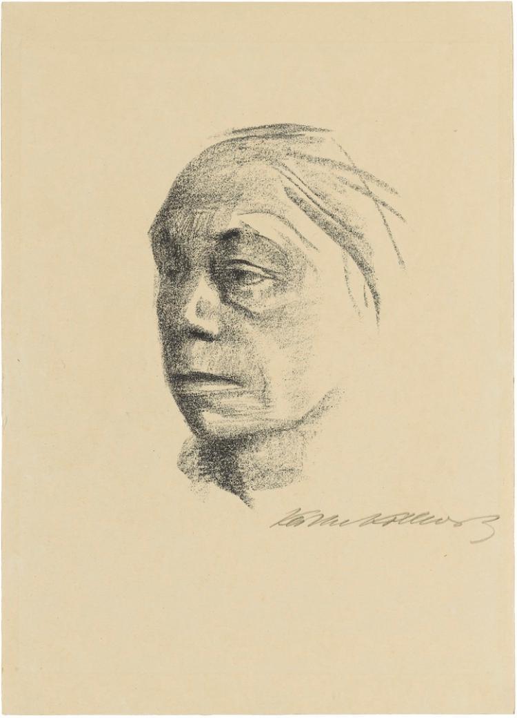 Kleines Selbstbildnis nach links (Blatt 10 in: Künstlerspende für das Deutsche Buchmuseum, Leipzig, November 1922)