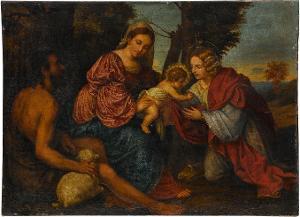 Mystische Vermählung der Hl. Katharina, 16. Jh.?