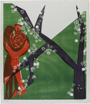 Große Wiese (Blatt 1 in: Baumblüte), 1963