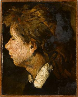 Frauenkopf im Profil, Um 1875