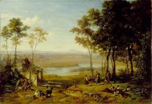 Tiberlandschaft bei Acqua Acetosa, 1859