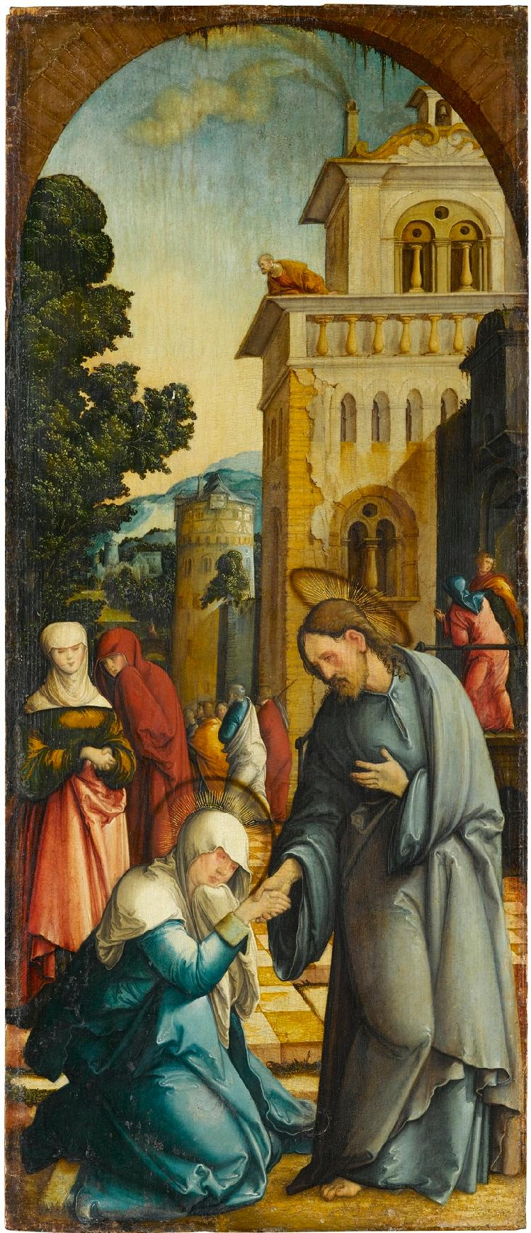 Wildensteiner Altar: Christi Abschied von seiner Mutter