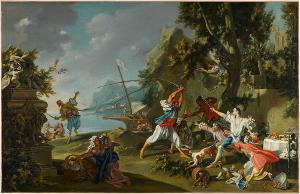 Piratenüberfall, um 1735/40