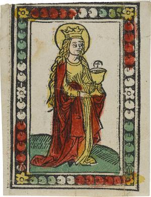 Die Heilige Barbara, um 1490