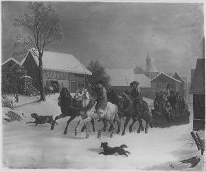 Bauern auf dem Bahnschlitten, 1844