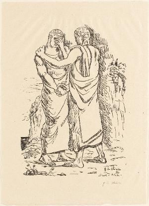 Orest und Pylades (Blatt 5 in: Bauhaus-Drucke. 4te Mappe), 1921 (1923)