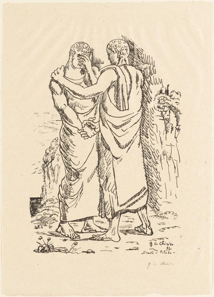 Orest und Pylades (Blatt 5 in: Bauhaus-Drucke. 4te Mappe)