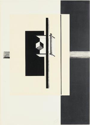 Ohne Titel (Blatt 6 in: Proun), 1919/23