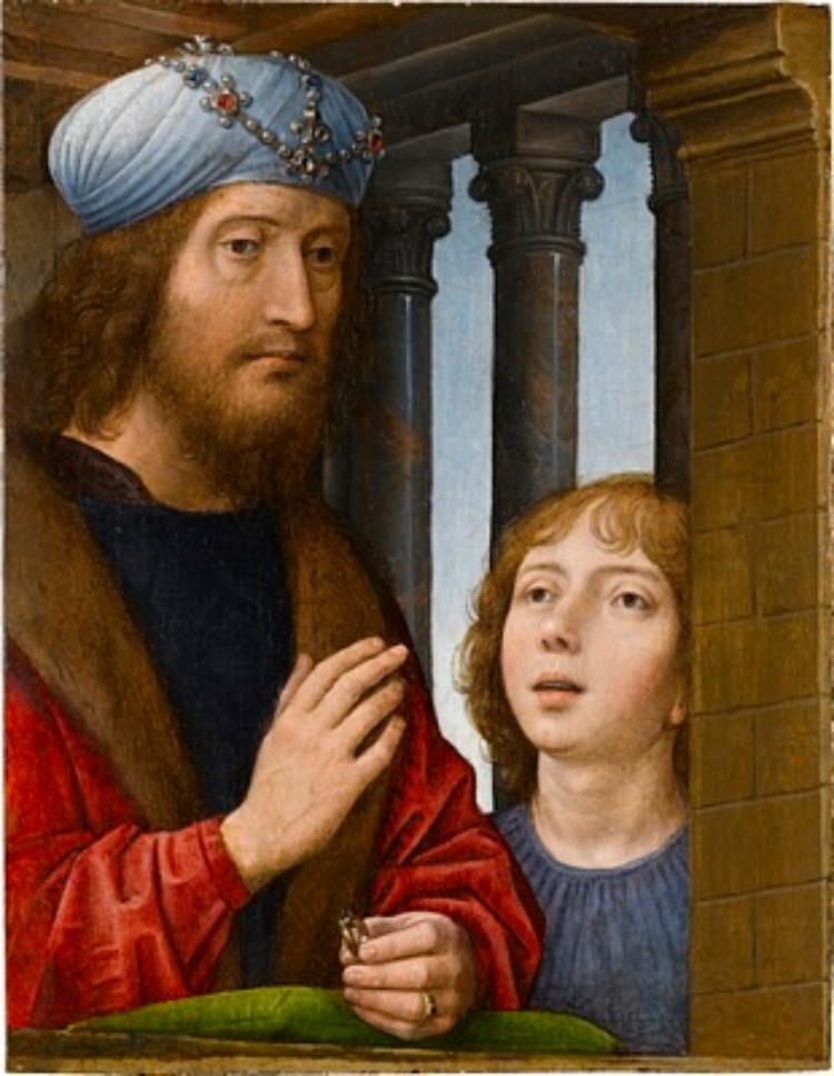König David und ein Knabe