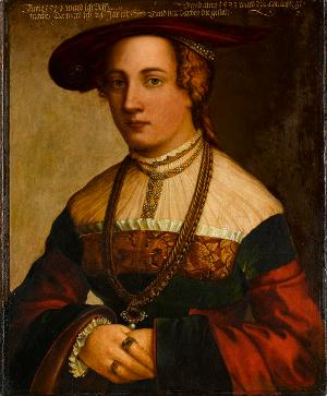 Bildnis der Ehefrau des David von Dettighofen, Afra Manlich, 1533