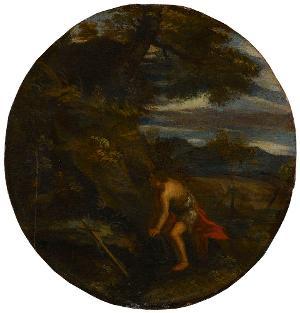 Hl. Johannes der Täufer in einer Landschaft, um 1600?