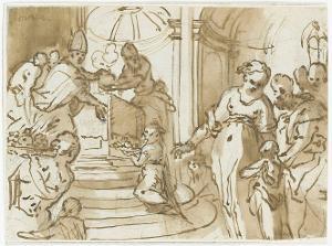 Tempelgang Mariae, um 1610