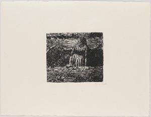 Der tote Tag, Blatt 1: Stehende Frau auf halber Kellertreppe, 1912