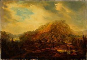 Landschaft mit Mönchen, nicht datiert