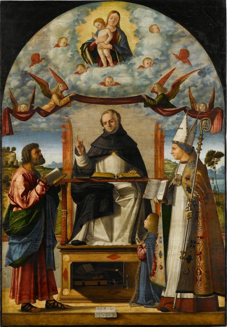 Disputatio des Hl. Thomas von Aquin mit den Hll. Markus und Ludwig von Toulouse