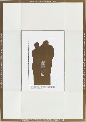 Ankündigung zur Ausstellung »Doors«, New York, Cordier & Ekstrom, 19.3.-21.4.1968), 1968