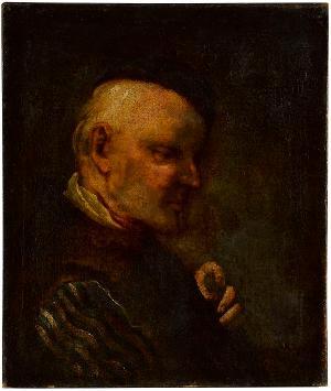 Männlicher Kopf, Mitte 17. Jh.