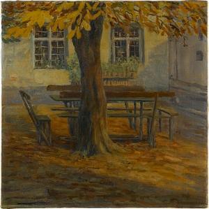 Baum mit Bank, 1909